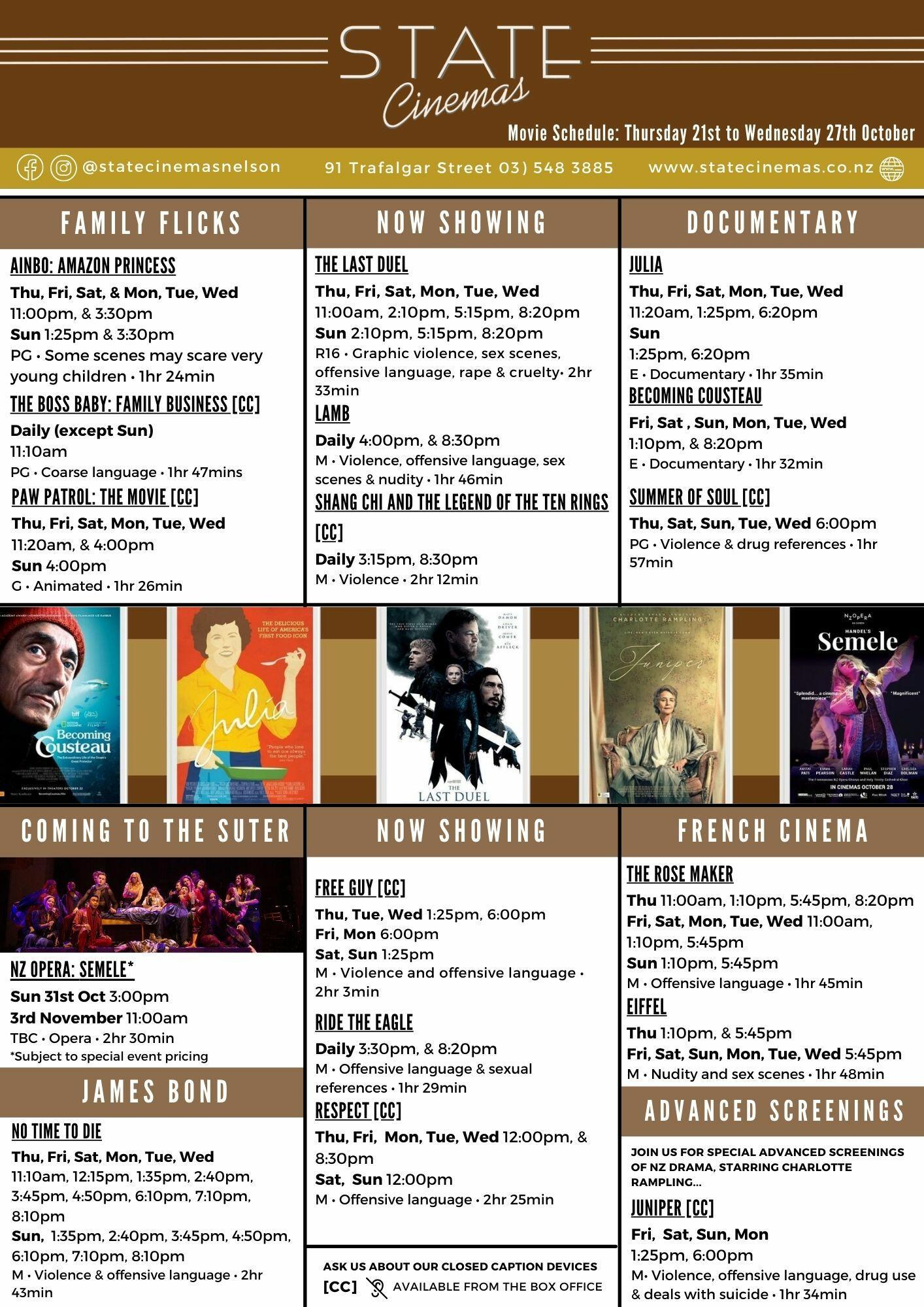 Oct 21 - 27   State Cinemas